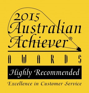 2015 Australian Achiever Awards Highly Recommended logo